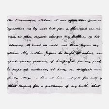 Old Script text Throw Blanket