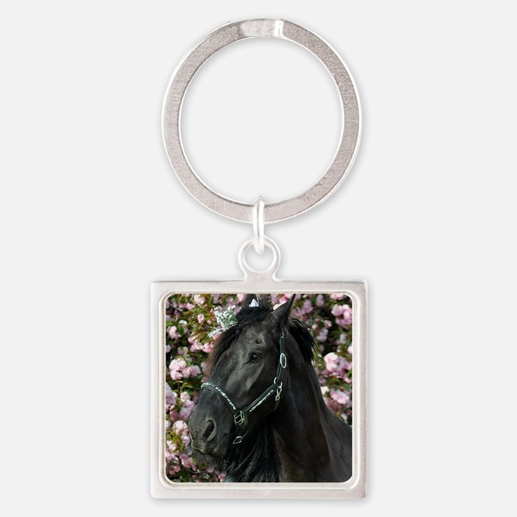 Friesian Sparkles Square Keychain