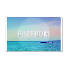 Freedom Life Inspiring Photo Qu Car Magnet 20 x 12