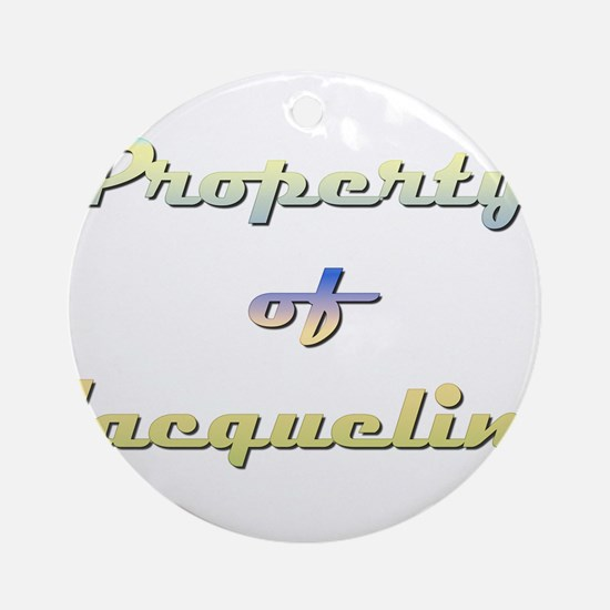 Property Of Jacqueline Female Round Ornament