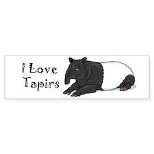 Smiling Tapir Bumper Bumper Sticker