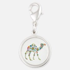 Colorful Retro Flowers Camel Charms
