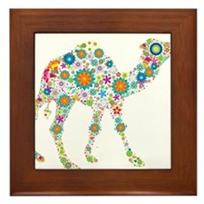 Cute Camel Framed Tile