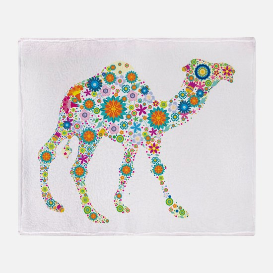 Cool Camels Throw Blanket