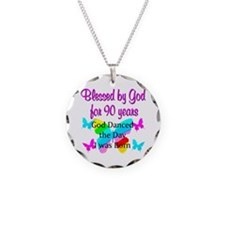 90TH GODS LOVE Necklace Circle Charm