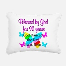 90TH GODS LOVE Rectangular Canvas Pillow