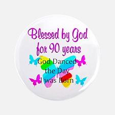 "90TH GODS LOVE 3.5"" Button"