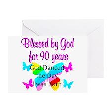 90TH GODS LOVE Greeting Card