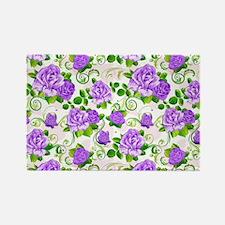 Elegant Vintage Purple Roses White 2 Background Ma