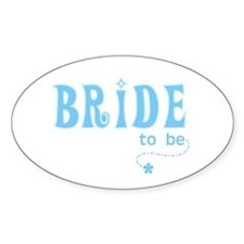 Bride to Be Blue Oval Decal