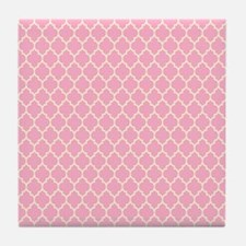 Cute Pink Tile Coaster