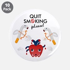 """Quit smoking 3.5"""" Button (10 pack)"""