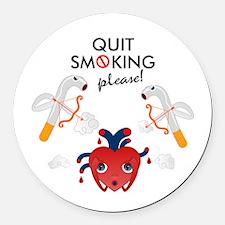 Quit smoking Round Car Magnet