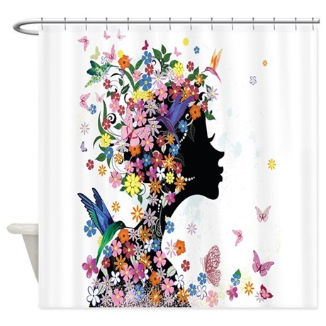 girl shower curtain by floridesigns