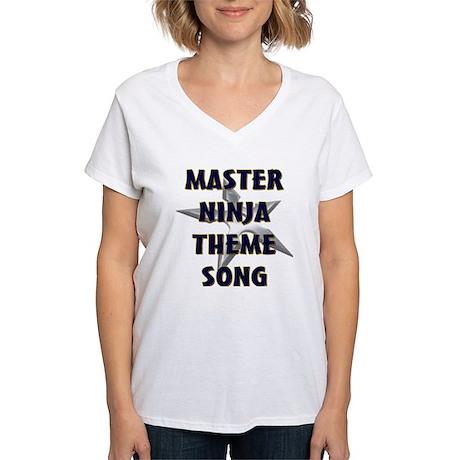 Master Ninja Women's V-Neck T-Shirt