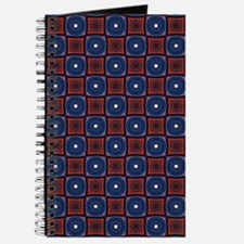 Red and Navy Retro Style Pattern Journal