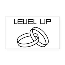 Level Up Rectangle Car Magnet