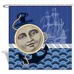 Vintage Nautical Shower Curtain