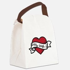 Love My Wife Canvas Lunch Bag