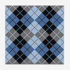 Argyle Design Tile Coaster