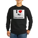 I Love Great Grandmother Long Sleeve Dark T-Shirt