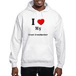 I Love Great Grandmother Hooded Sweatshirt