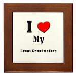I Love Great Grandmother Framed Tile