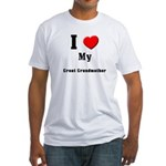I Love Great Grandmother Fitted T-Shirt