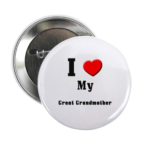 "I Love Great Grandmother 2.25"" Button (10 pack)"