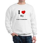 I Love Great Grandmother Sweatshirt