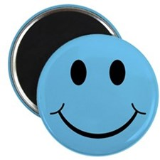"Blue Smiley Face 2.25"" Magnet (10 pack)"
