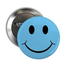 Blue Smiley Face Button