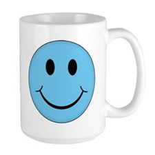 Blue Smiley Face Mug
