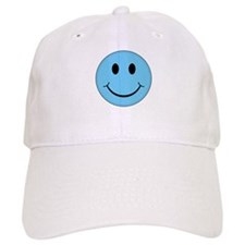 Blue Smiley Face Baseball Cap
