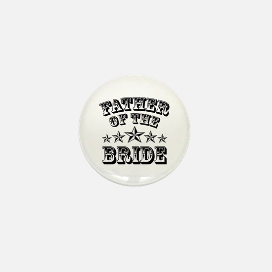 Cool Father Of The Bride Mini Button