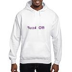 Fuck Off - Backward Text Hooded Sweatshirt