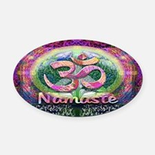 Namaster Tree of Life Peace Symbol Oval Car Magnet