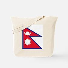 Nepalese flag Tote Bag