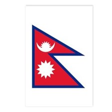 Nepalese flag Postcards (Package of 8)