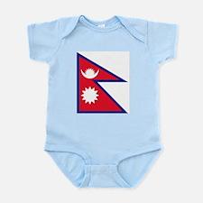 Nepalese flag Infant Bodysuit