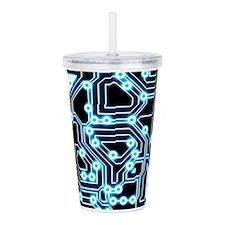ElecTRON - Blue/Black Acrylic Double-wall Tumbler
