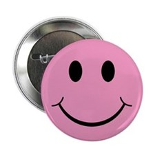 "Pink Smiley Face 2.25"" Button (10 pack)"