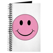 Pink Smiley Face Journal