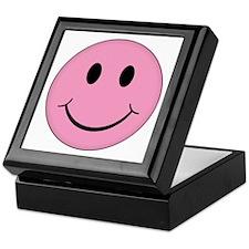 Pink Smiley Face Keepsake Box