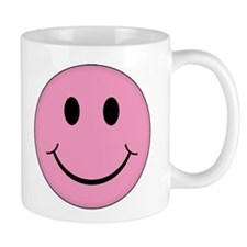 Pink Smiley Face Mug