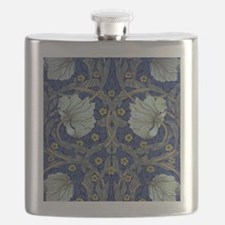 White Blue Tulips Flask