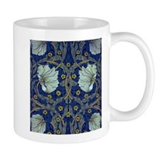 White Blue Tulips Mugs