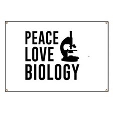 Peace love biology Banner