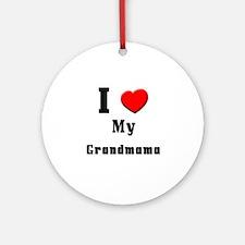I Love Grandmama Ornament (Round)