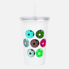 Colourful Soccer Acrylic Double-Wall Tumbler